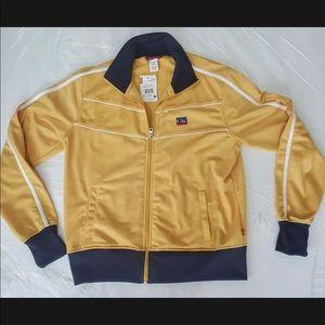 Levi's Bomber Jacket Zip Up Women's L Yellow Blue